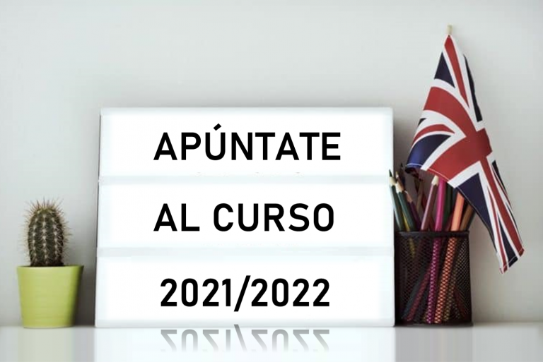 cartel apuntarse curso inglés 2021/2022
